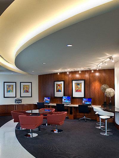 Business centre at 220 Twentieth Street Apartments, Crystal City, Arlington