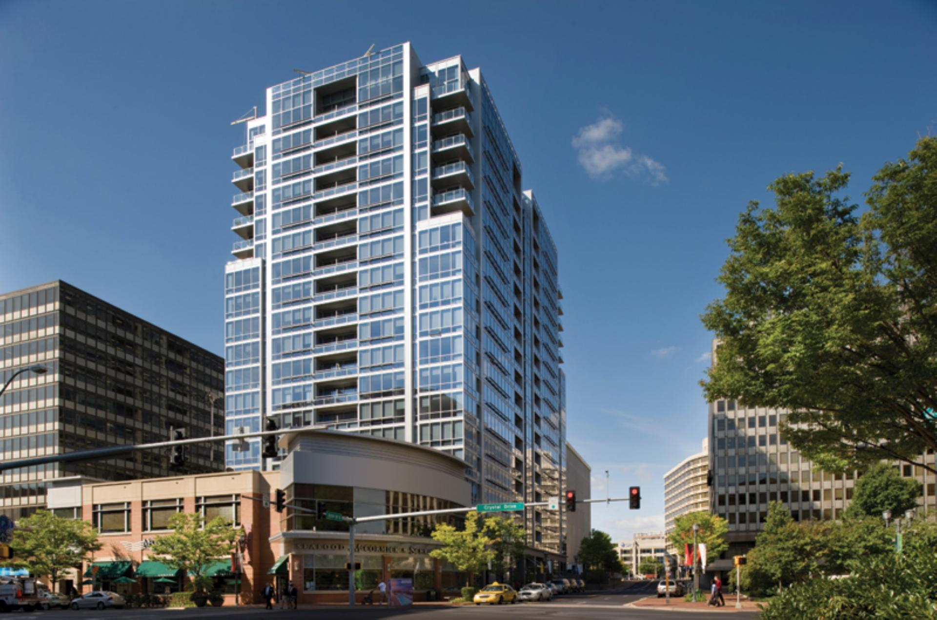 Exterior of 220 Twentieth Street Apartments, Crystal City, Arlington