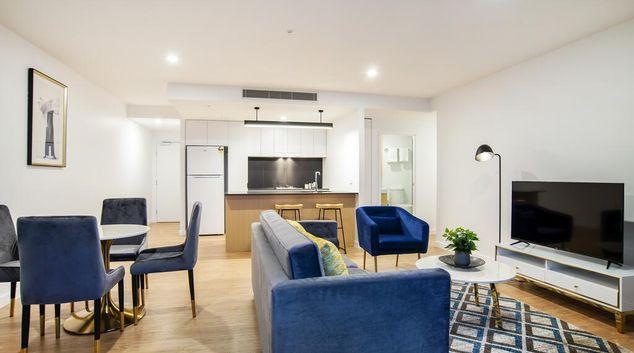 Living area at Arise Brisbane One, South Brisbane, Brisbane