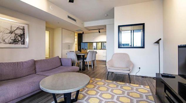 Living area at Arise Arena, South Brisbane, Brisbane