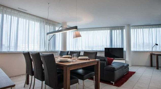 Living room at Zugerstrasse Apartment, Cham, Zug