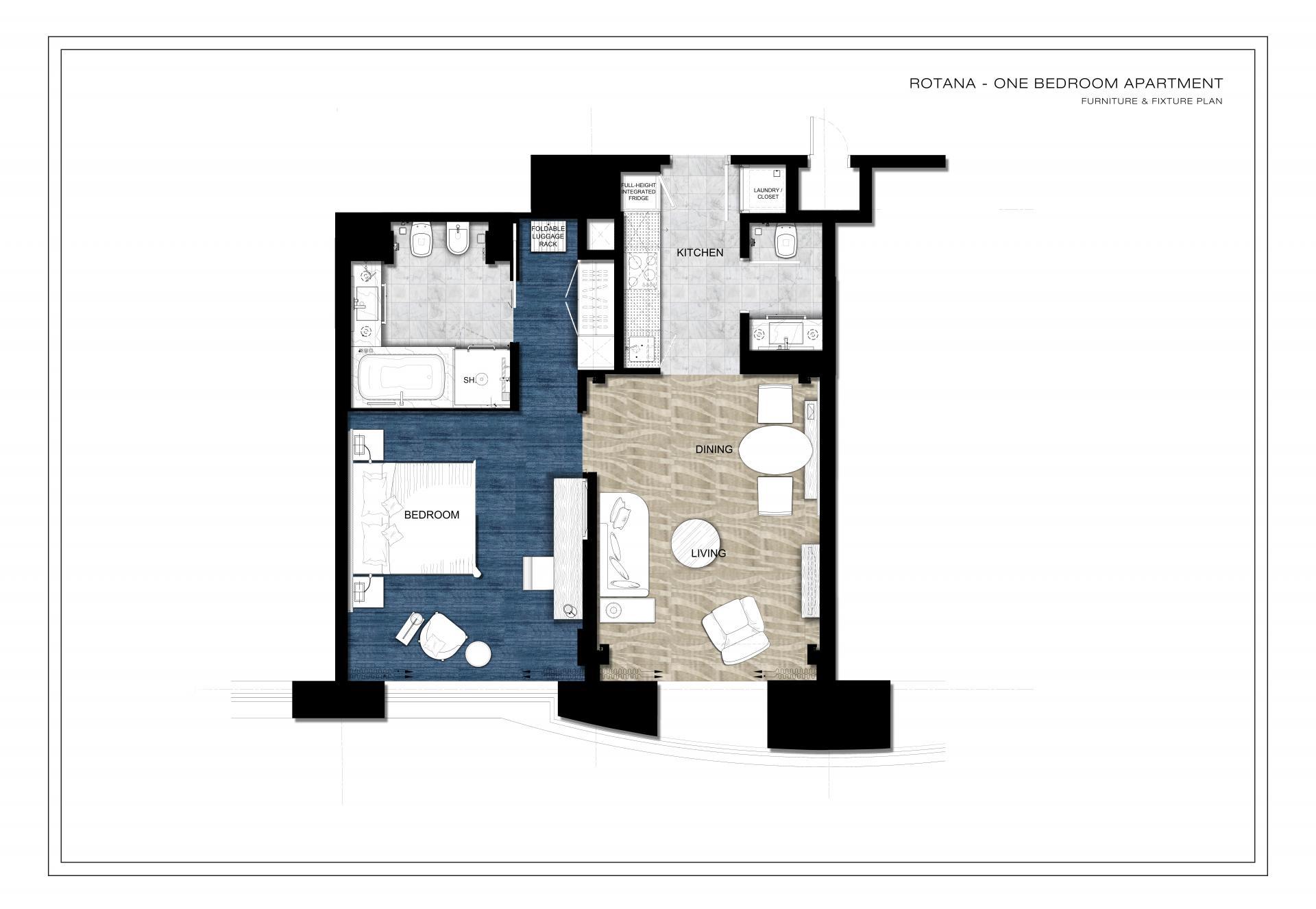Floorplan 2 at Towers Rotana Apartments