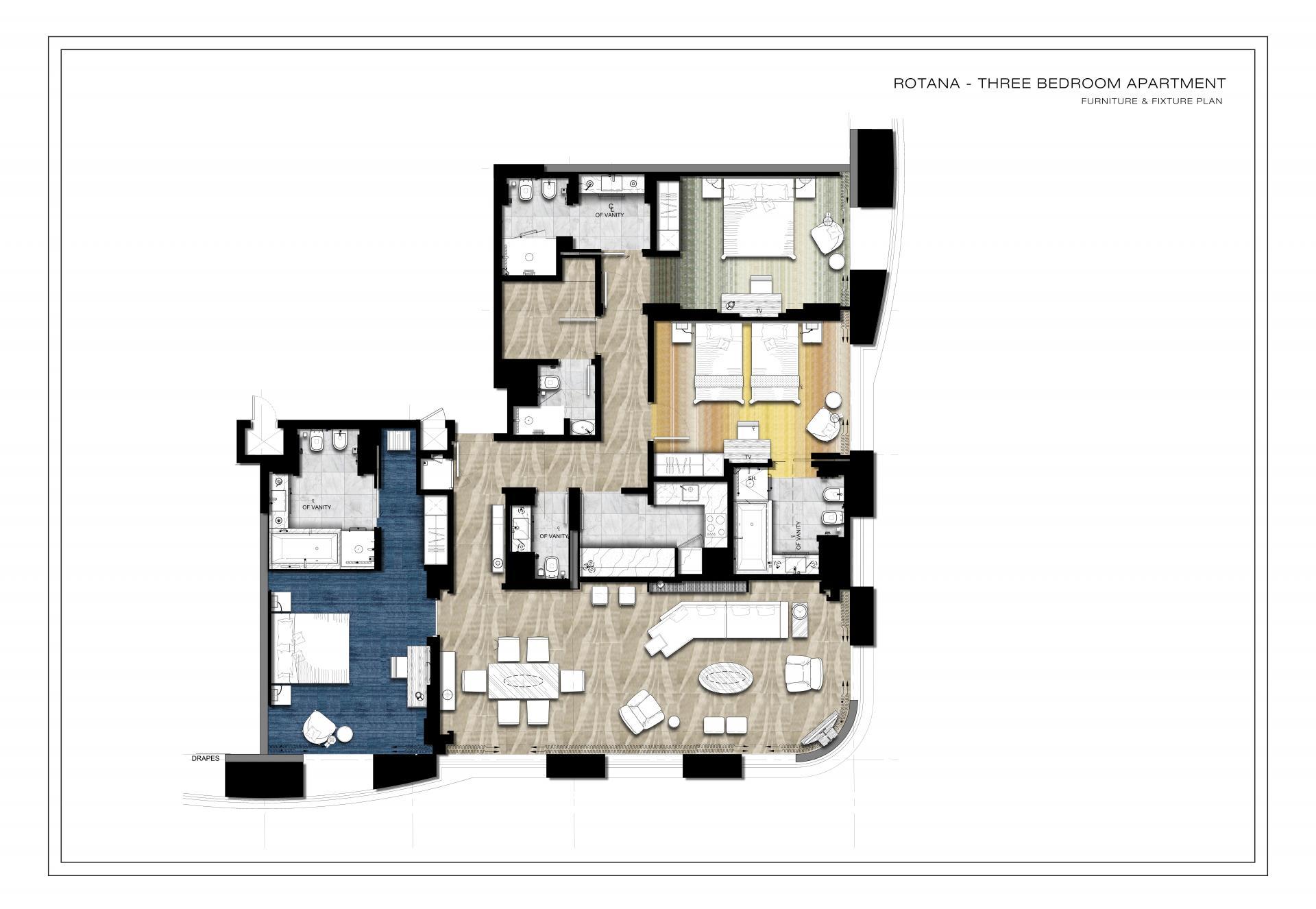 Floorplan 4 at Towers Rotana Apartments