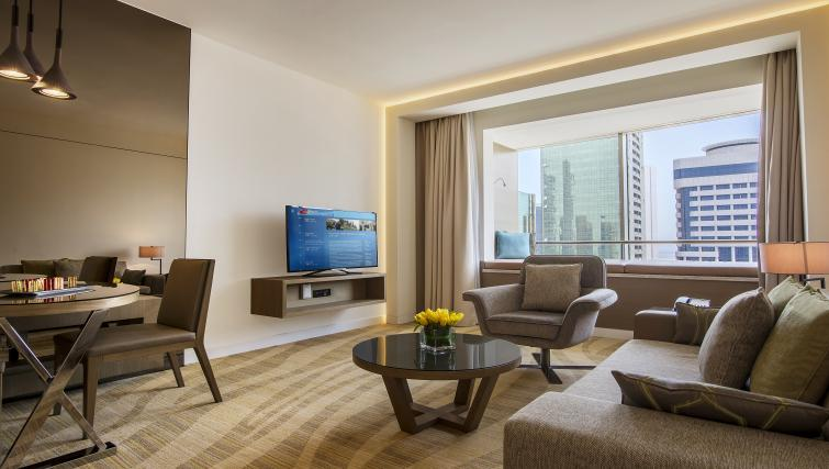 Living area at Towers Rotana Apartments