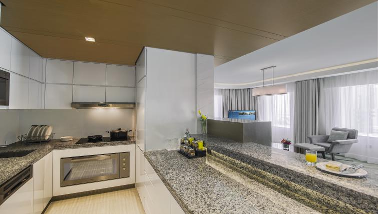 Kitchen at Towers Rotana Apartments