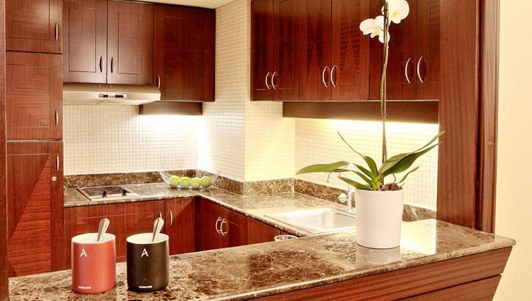 Kitchen at Raouche Arjaan Apartments