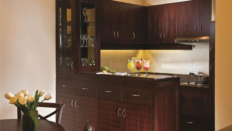 Equipped kitchen at Raouche Arjaan Apartments