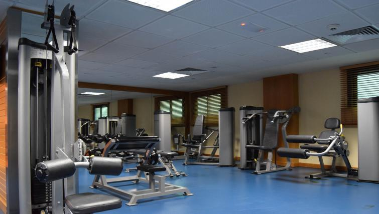 Gym facilities at Raouche Arjaan Apartments