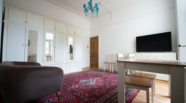 Living room at Carlton House, Centre, Newport