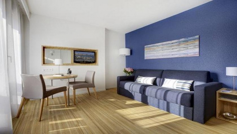 Delightful living area in Citadines Cannes Carnot Apartments