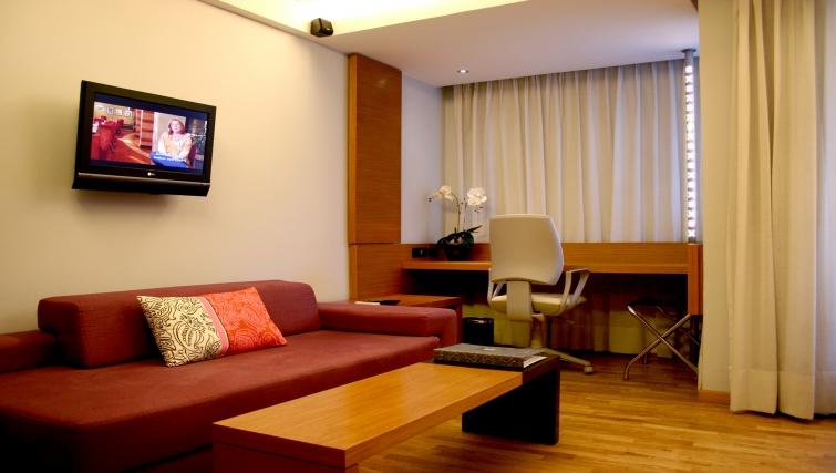 Spacious living area in JM Suites Hotel