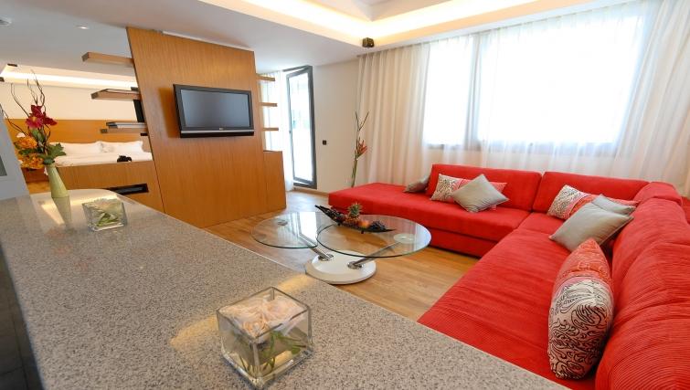 Elegant living area in JM Suites Hotel