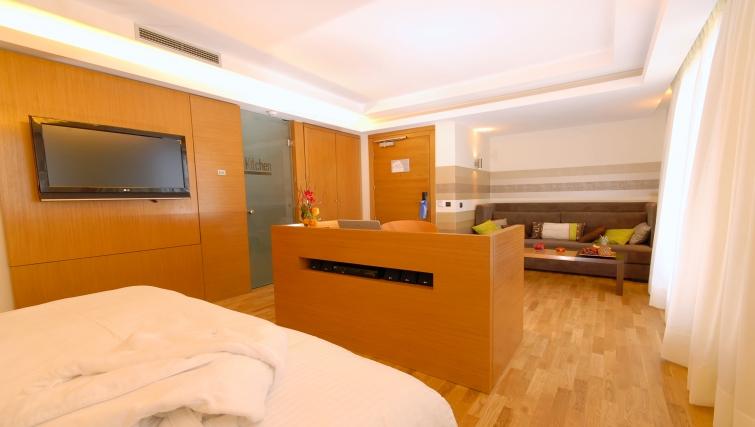 Spacious bedroom in JM Suites Hotel