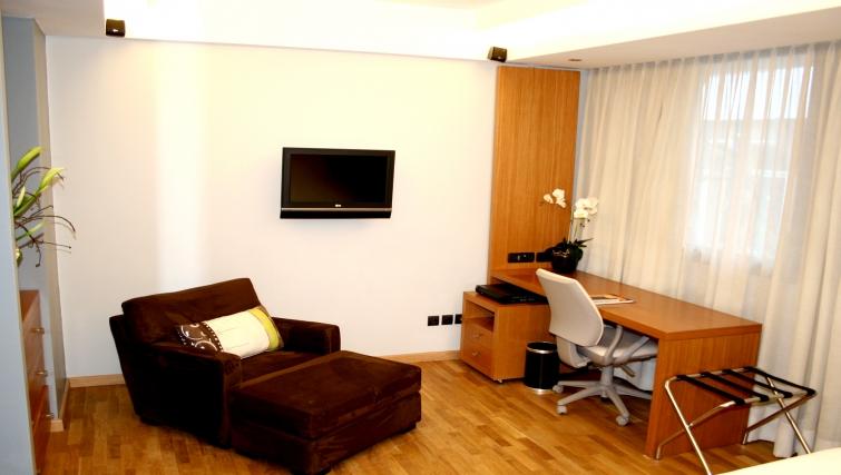 Bright living area in JM Suites Hotel