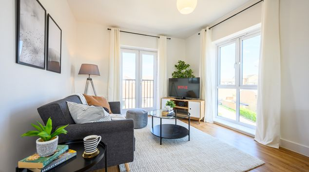 Living area at Charlton Heights, Charlton Hayes, Bristol