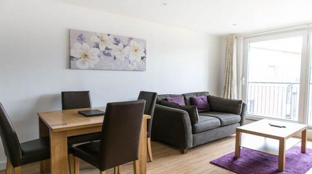 Living room at The Atrium Apartments