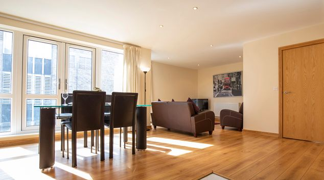 Dining area at Flexi-Lets The Bars Apartments, Centre, Guildford