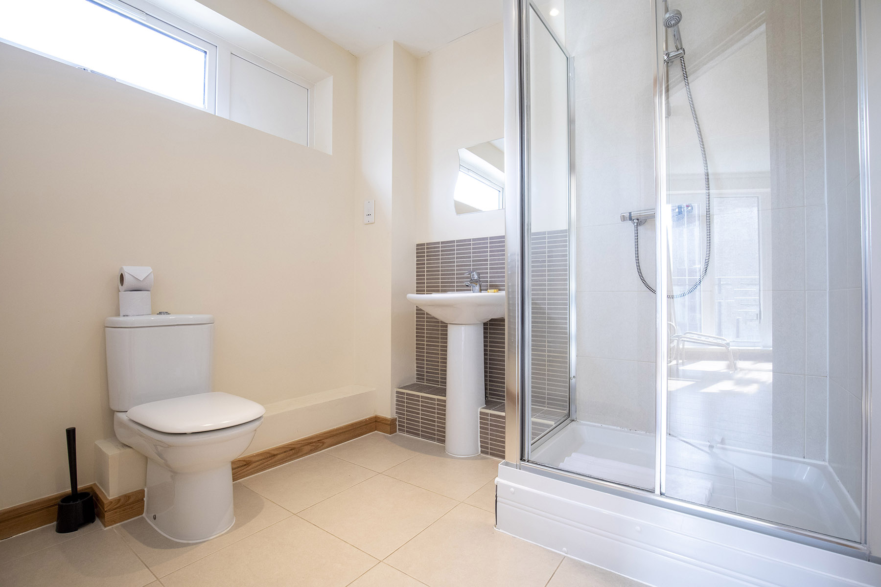 Shower at Flexi-Lets The Bars Apartments, Centre, Guildford