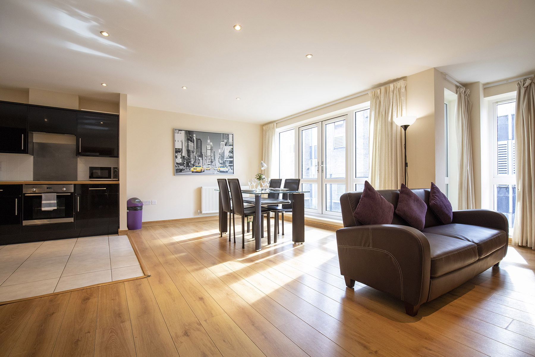 Living area at Flexi-Lets The Bars Apartments, Centre, Guildford