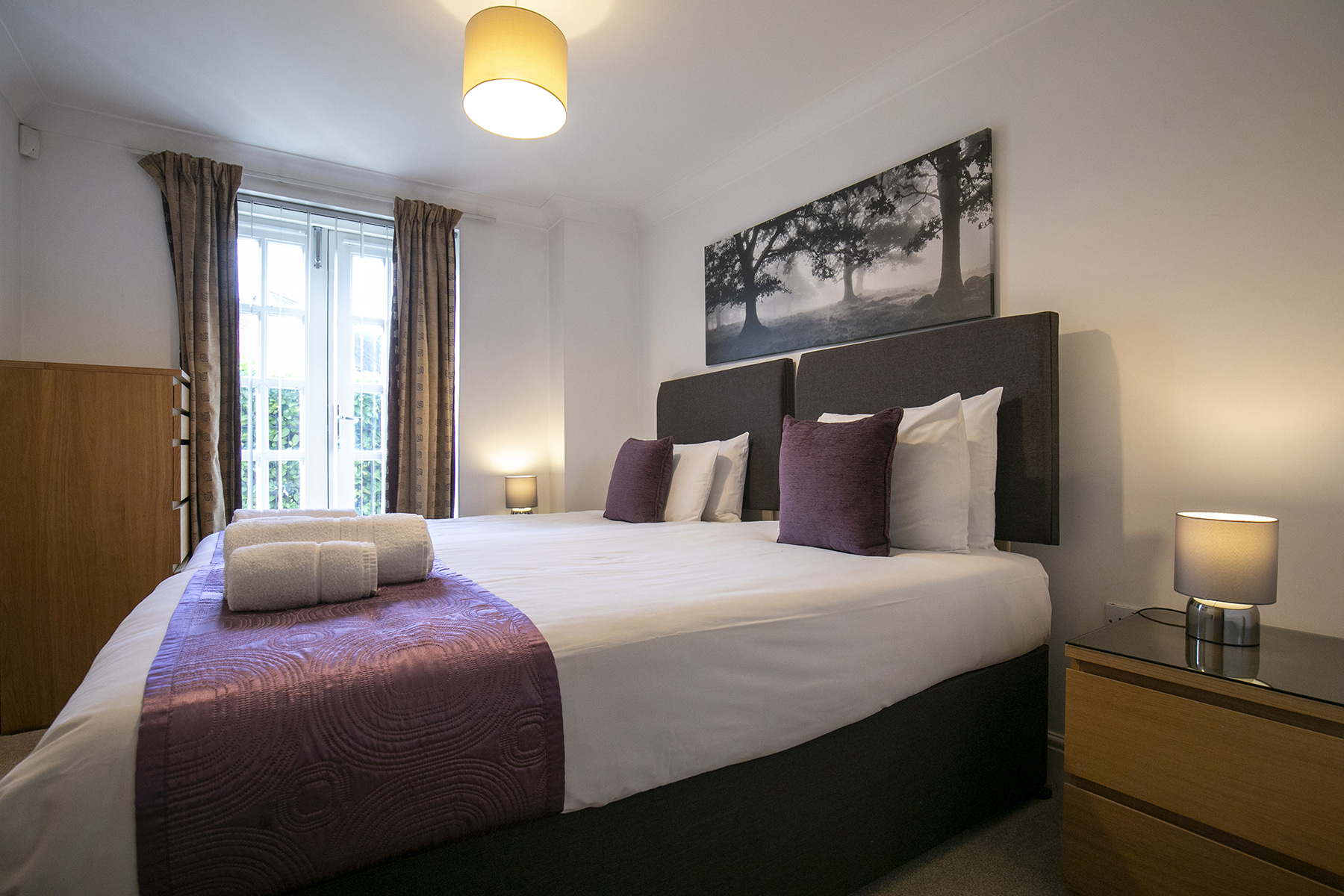 Bed at Flexi-Lets The Bars Apartments, Centre, Guildford