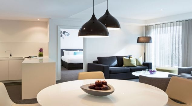 Living area in The Como Melbourne Apartments