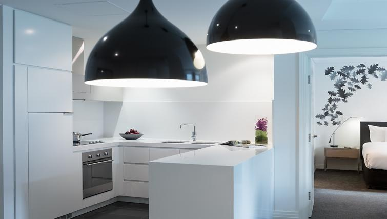Kitchen at The Como Melbourne Apartments