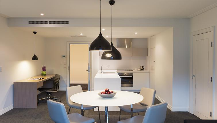 Dining area at The Como Melbourne Apartments