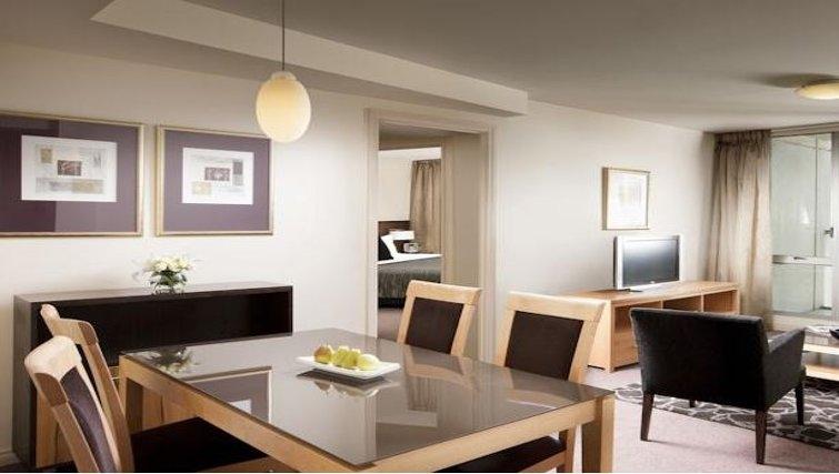 Scenic living area in Quay West Suites Melbourne