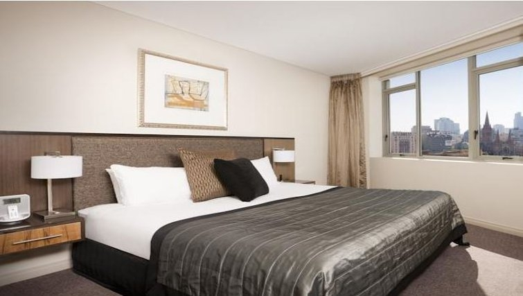 Bedroom in Quay West Suites Melbourne