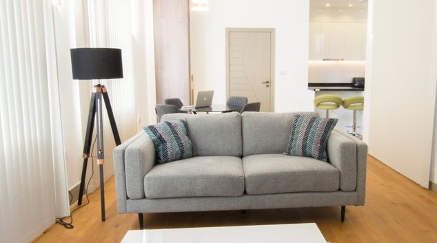 Living room at Kew Bridge Serviced Apartments