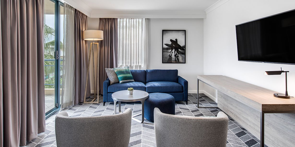Graceful living area at Adina Apartment Hotel Coogee