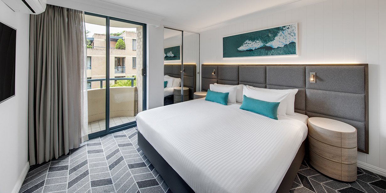 Premium bedroom at Adina Apartment Hotel Coogee