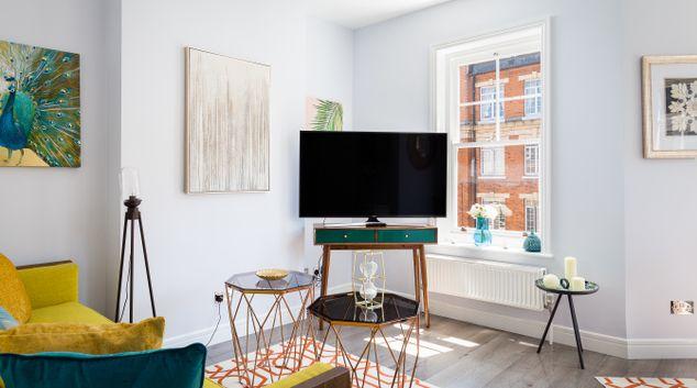 Living area at Molyneux Apartments, Edgware Road, London