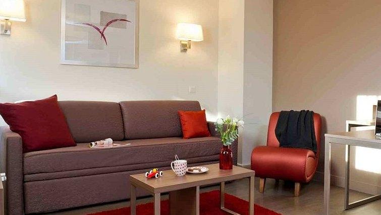 Spacious living area in Adagio Caen Centre