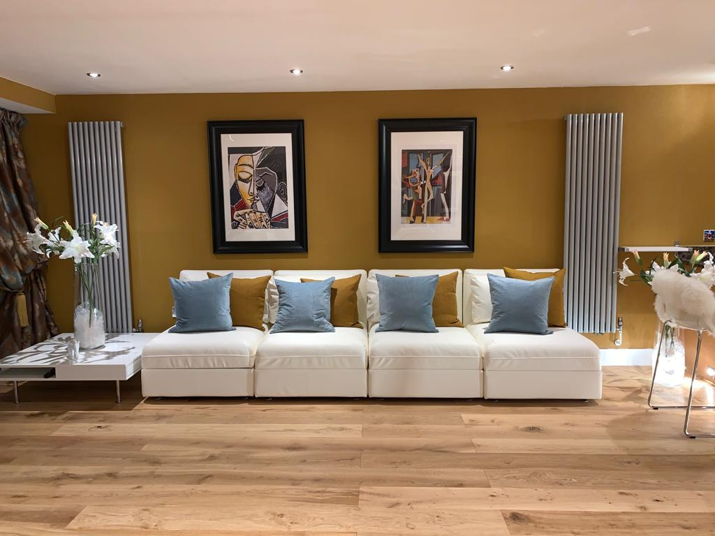 Living area at Millharbour Apartment, Canary Wharf, London
