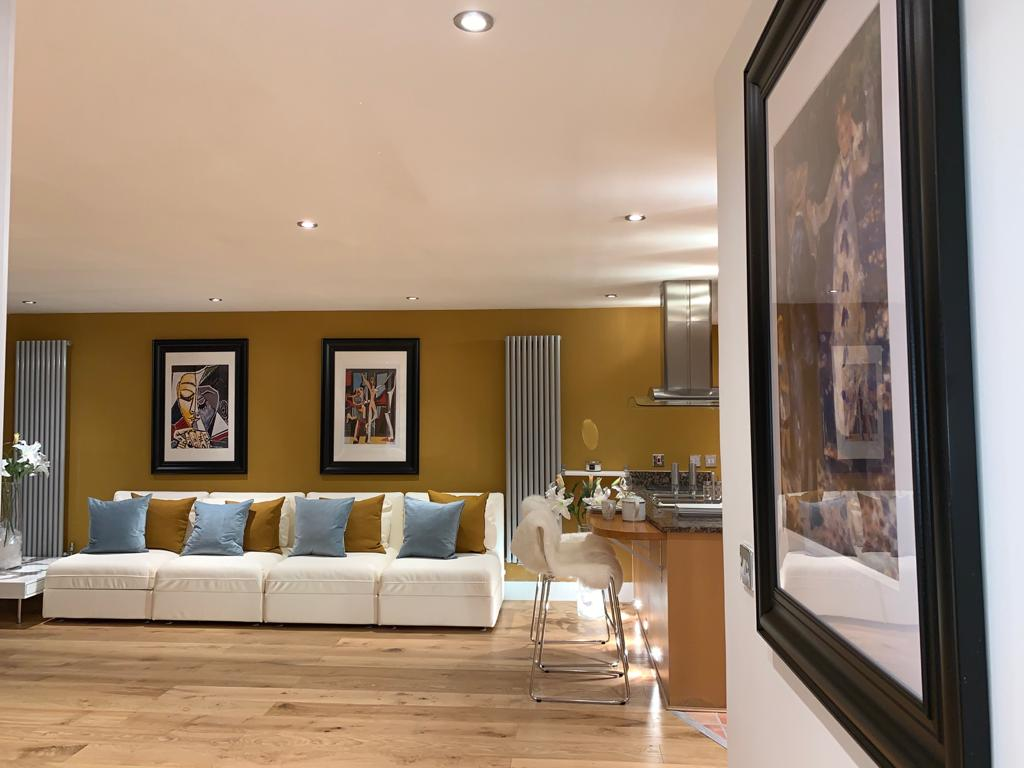 Decor of Millharbour Apartment, Canary Wharf, London