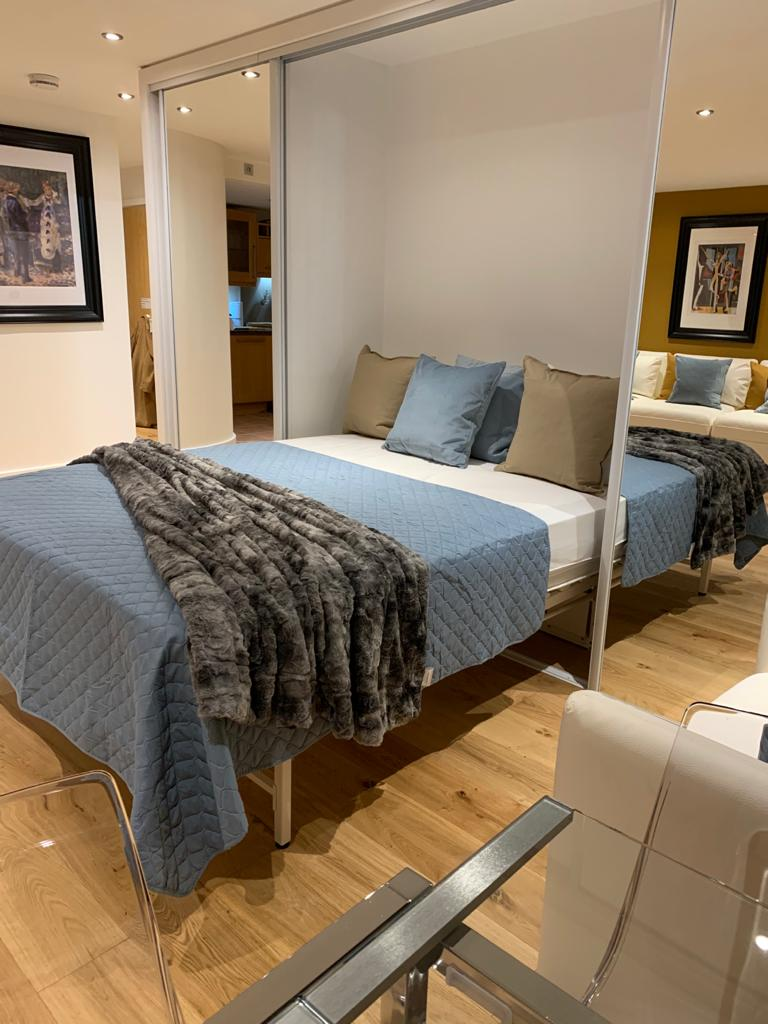 Extra bed at Millharbour Apartment, Canary Wharf, London