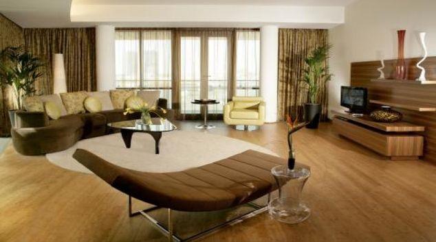Modern living area in BurJuman Arjaan Apartments
