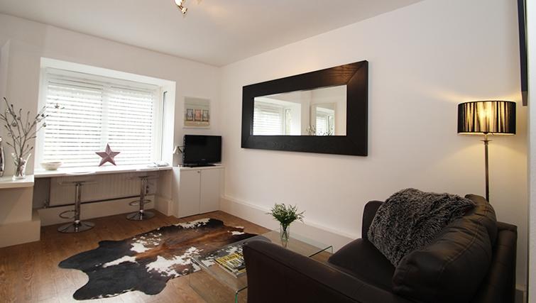 Living area at Mathon Court Apartment