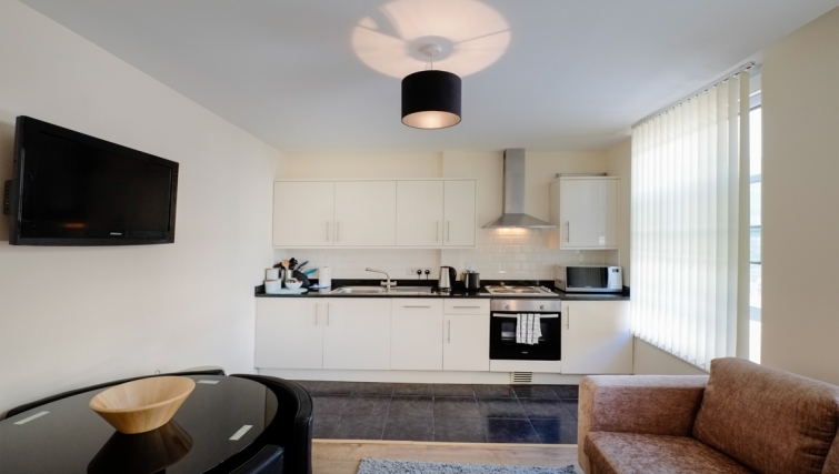 Kitchen in Hanbury Street Apartments