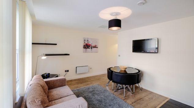 Living area in Hanbury Street Apartments