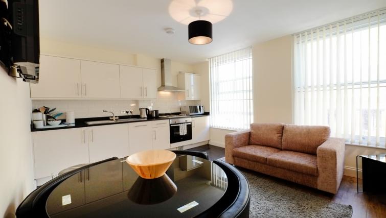 Dining area in Hanbury Street Apartments