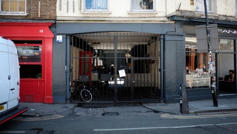 Entrance at Hanbury Street Apartments