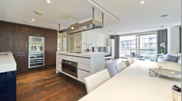 Living area at Bramah House, Sloane Square, London