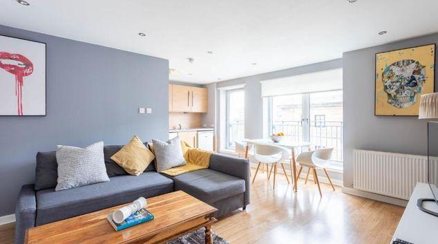 Living area at Merchant City Executive Apartment, Merchant City, Glasgow