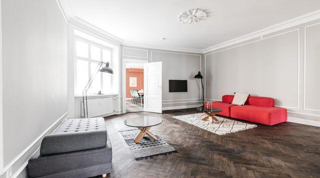 Living area at Hauser Plads Apartments, København, Copenhagen