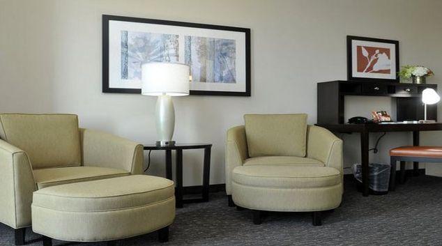 Spacious living area in Staybridge Suites St. Petersburg