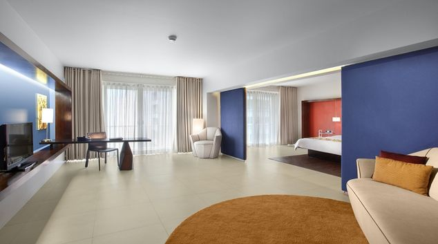 Open living area at The Picasso Boutique Residences