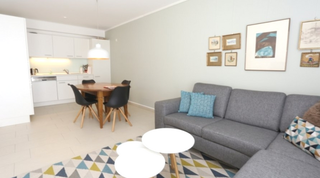 Living area at Hollerich Garden Apartments, Bonnevoie, Luxembourg