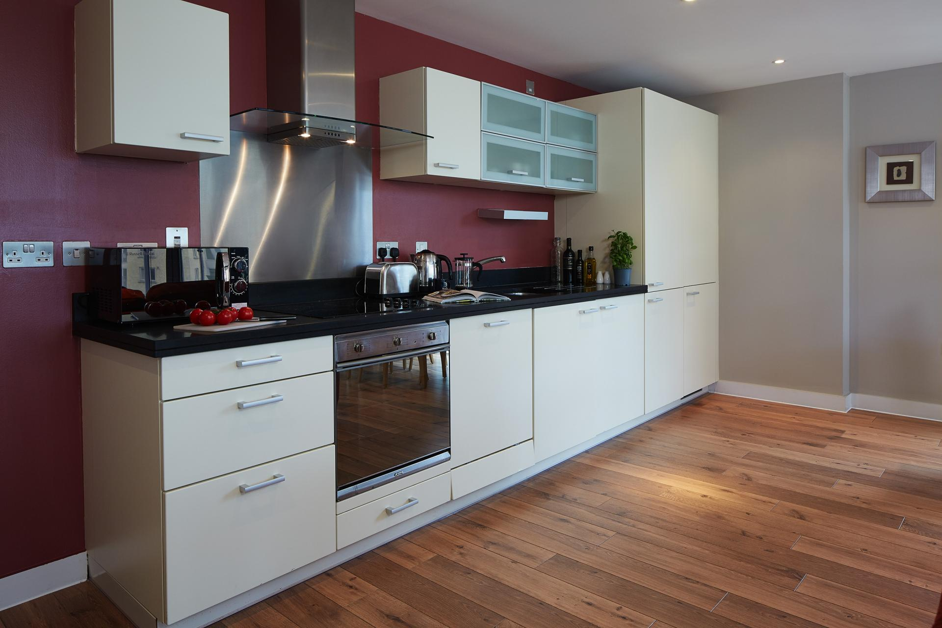 Kitchen at Marlin Canary Wharf Apartments, Canary Wharf, London
